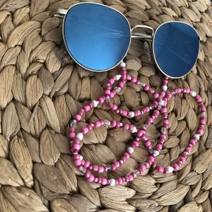 Roze zonnebrilkoord
