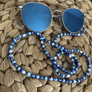 Blauw zonnebrilkoord