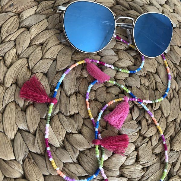 Regenboog zonnebrilkoord
